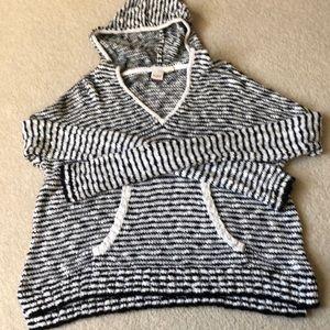 Roxy knit hoodie. Size Large